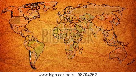 Chile Territory On World Map