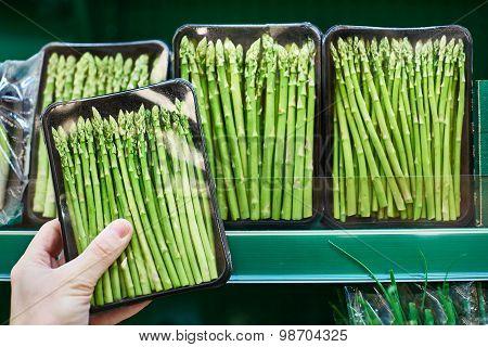 Hand With Asparagus