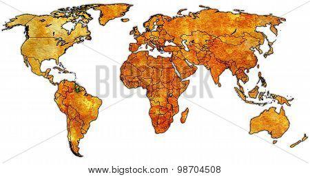 Guyana Territory On World Map