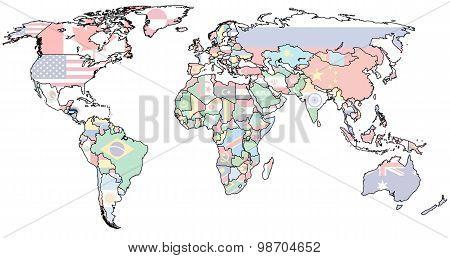 Honduras Territory On World Map