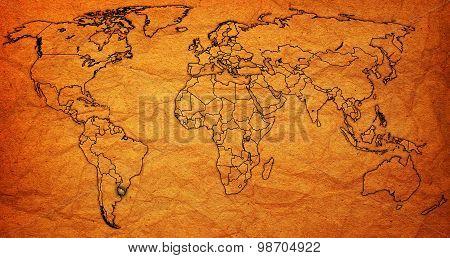 Uruguay Territory On World Map