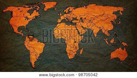 Venezuela Territory On World Map