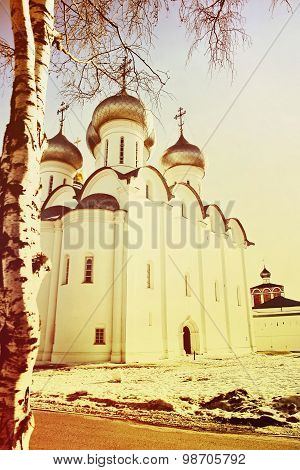 St. Sophia Cathetral In Vologda,russia.toned Image.