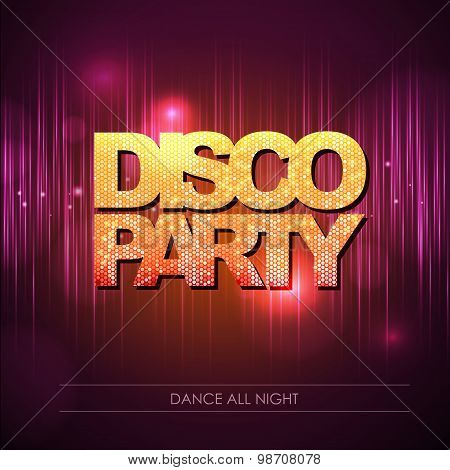Typography Disco Background. Disco Party.