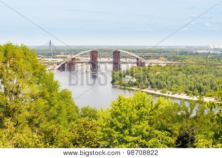Three Bridges In Kiev