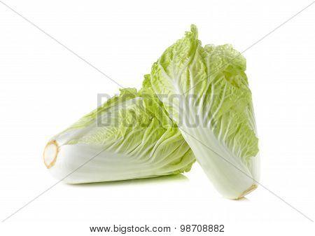Fresh Chinese Cabbage On White Background