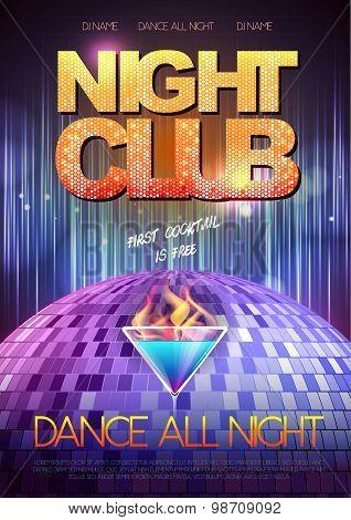 Disco Background. Disco Poster.