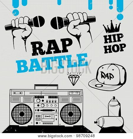 Rap Battle, Hip-hop, Breakdance Music Design Elements