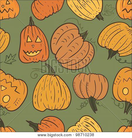 Pumpkin Vector Pattern