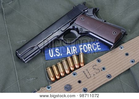 Colt Goverment 1911 With Us Air Force Uniform