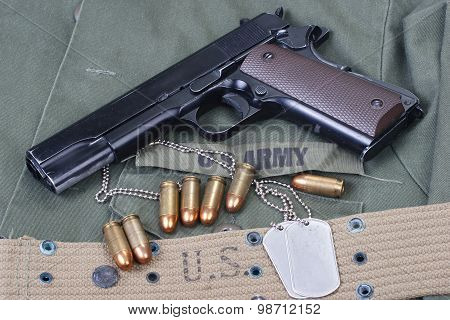 Colt Government M1911 With Us Army Uniform