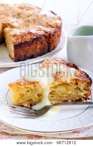 Slice Of Irish Apple Cake