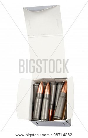 Kalashnikov Cartridges In Box