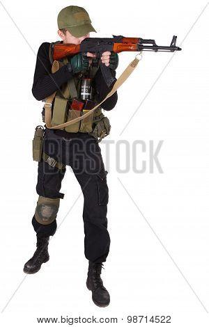Mercenary With Ak 47 Gun