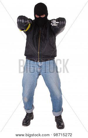 Gunman With Handgun