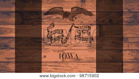 Iowa State Flag Brand