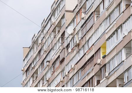 Background with the image of modern high-rise building