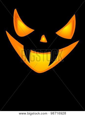 A grinning crowd of Jack O Lantern. Vector illustration.