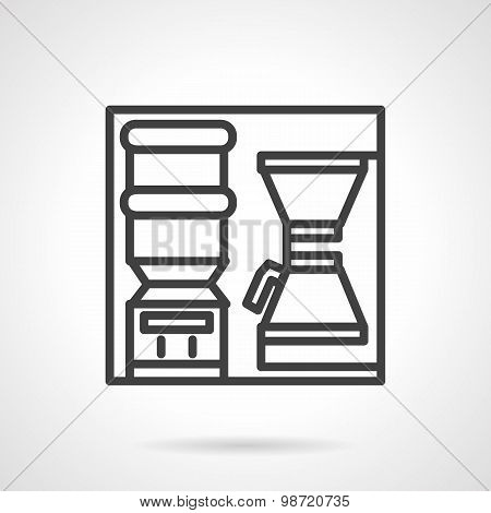 Coffee self-service vector icon