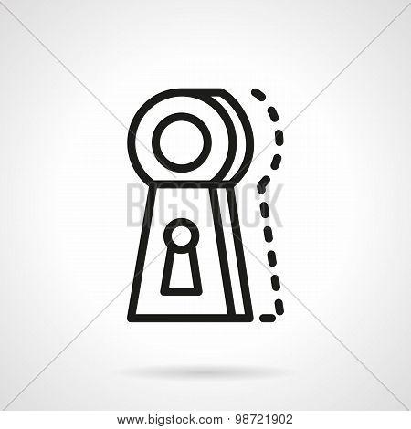 Keyhole line vector icon