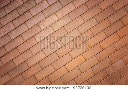 Pattern Of Red Brick Wall Texture For Background