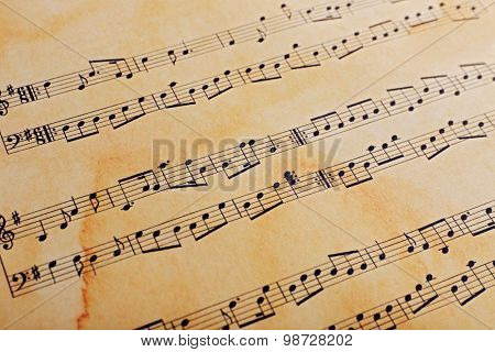 Music sheet background