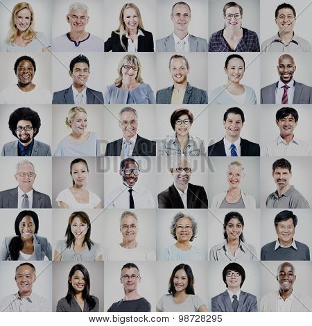 Group of Multi-ethnic Diverse Business People Concept