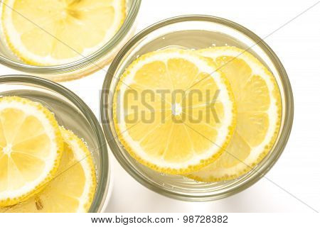 Water Galss With Lemon