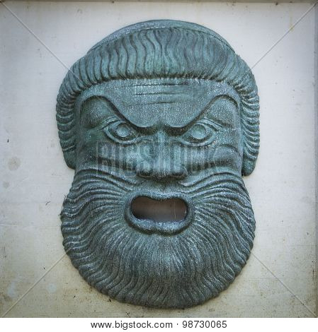 Angry Zeus Statue Face