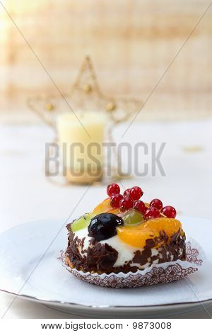 Christmas Fruit Fancy Cake