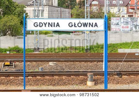 Gdynia. Railroad Station.