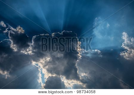 Dark clouds and light