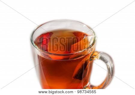 Teabag And Tea In A Cup