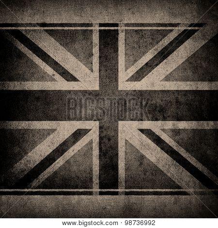 grunge wall with england flag