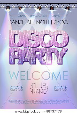 Disco Background. Pisco Party Poster