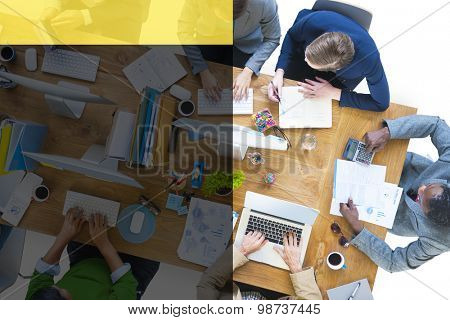 Business People Administrative Brainstorming Concept
