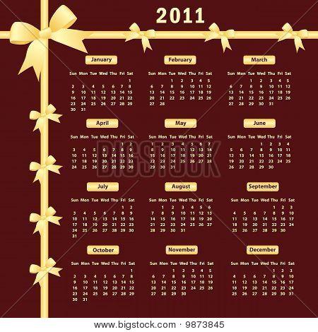 Calendario 2011 con arcos