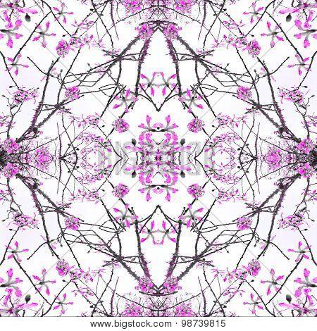Geometric Nature Collage Pattern