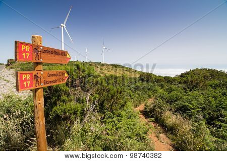 Touristic Trail In Madeirdan Plateau Paul Da Serra