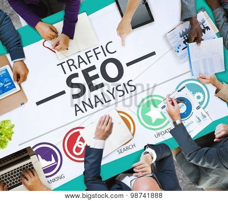 Search Engine Optimization Analysis Information Data Concept