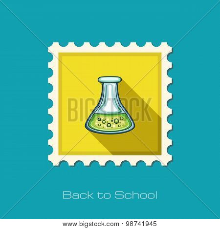 Flask Tube Flat Stamp