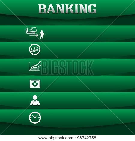 Banking-concept-on-green-background-with-a-card-icon