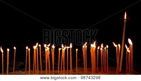 Burning Religious Candles
