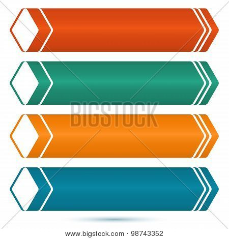 Horizontal-banner-set-of-colored-arrows