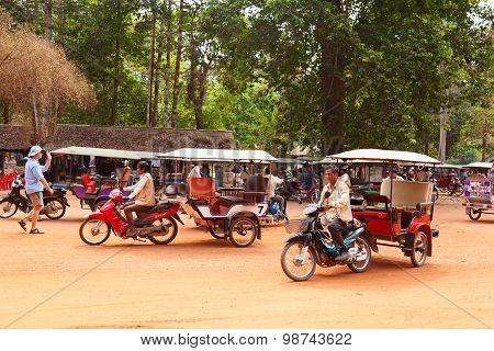 Tuk-tuk In Angkor Wat, Cambodia
