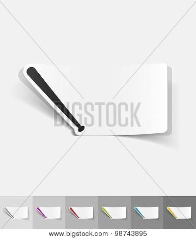 realistic design element. baseball bat