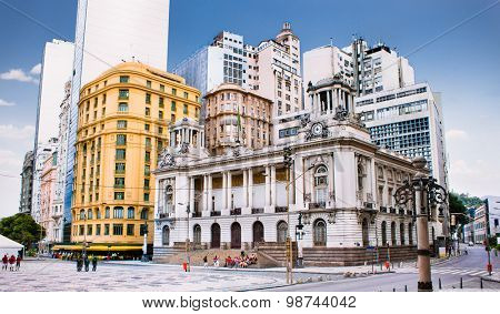 Rio de Janeiro City Hall. Brazil. Located in downtown of the city, it is among the most photographed buildings in Rio de Janeiro.