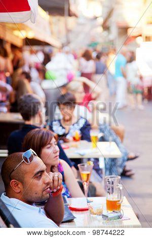 Sidewalk Cafes In Nice