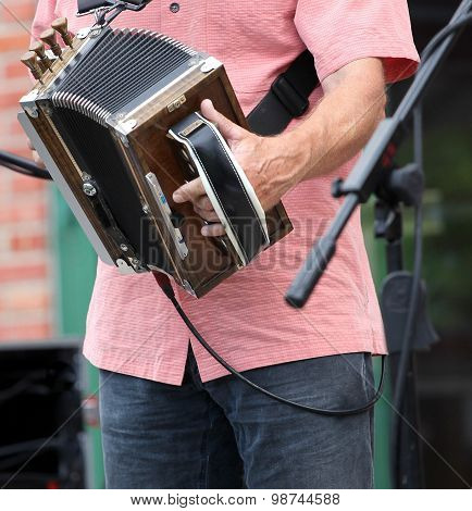 Zydeco accordion musician.