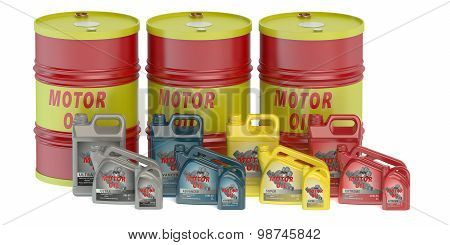Motor Oil Barrels And Canisters